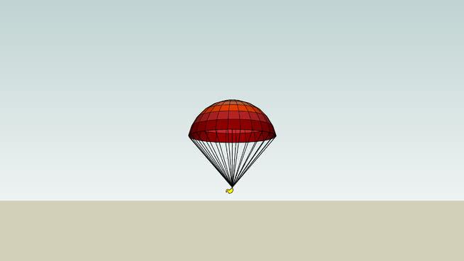 降落傘鴨SU模型【ID:740300430】