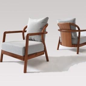 新中式单人沙发3D模型【ID:634831417】