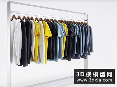 衣服服裝組合國外3D模型【ID:929824685】