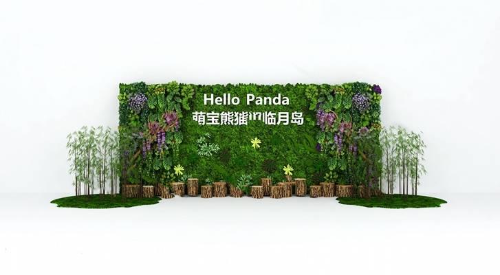 现代背景墙3D模型【ID:324880591】