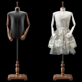 服饰模特3D模型【ID:928182994】