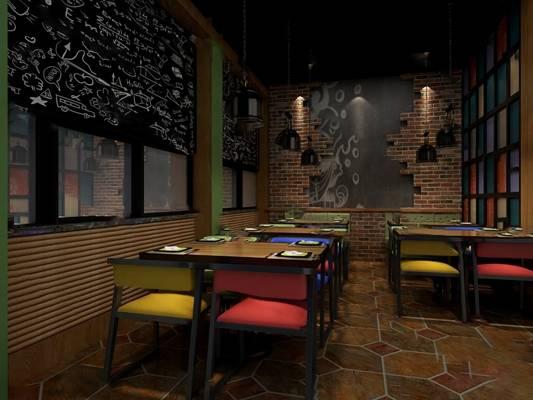 工业餐厅3D模型【ID:120615866】