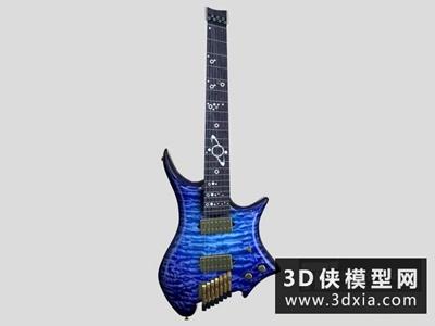 电吉他国外3D模型【ID:229530082】