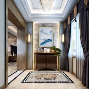 新中式门厅3D模型【ID:227884756】