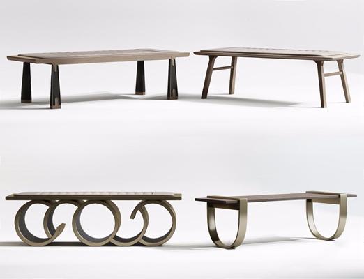 新中式床尾凳3D模型【ID:427990653】