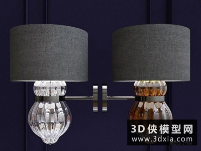 現代壁燈国外3D模型【ID:829608843】
