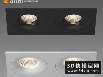 雙頭斗膽燈國外3D模型【ID:929353199】