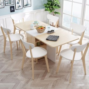 北欧餐桌椅组合3D模型【ID:327931424】
