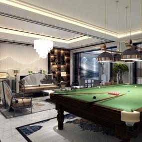 新中式别墅娱乐室3D模型【ID:928203425】