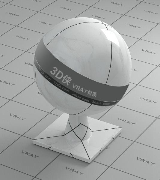 白色大理石Vray材質【ID:736511721】