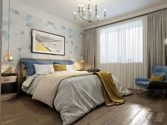 现代卧室3D模型【ID:124895324】