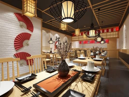 中式餐厅3D模型【ID:124885851】