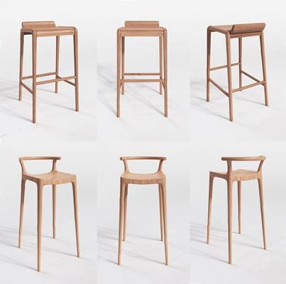 現代吧椅3D模型【ID:327925150】