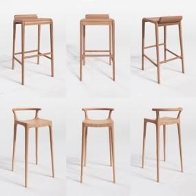 现代吧椅3D模型【ID:327925150】
