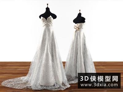 婚紗模特國外3D模型【ID:929587622】