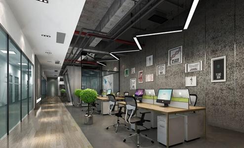 現代辦公室開放辦公區3D模型【ID:220816471】