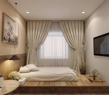 日式卧室3D模型【ID:419623735】