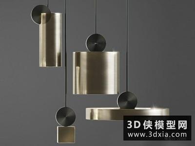 現代吊燈國外3D模型【ID:829404741】