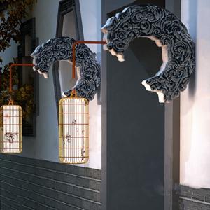 新中式壁燈燈籠3D模型【ID:732391917】