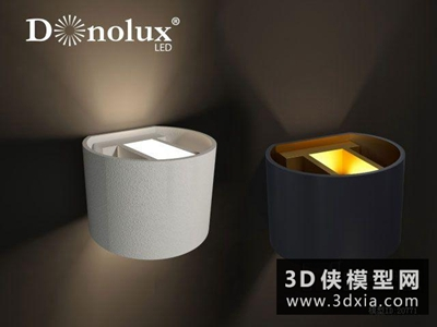 現代壁燈国外3D模型【ID:829492865】