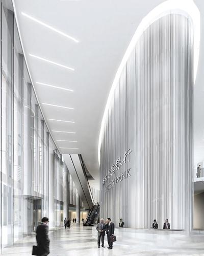 现代银行大厅3D模型【ID:228103832】