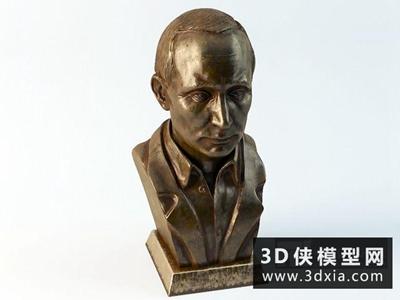普京雕塑国外3D模型【ID:929519720】
