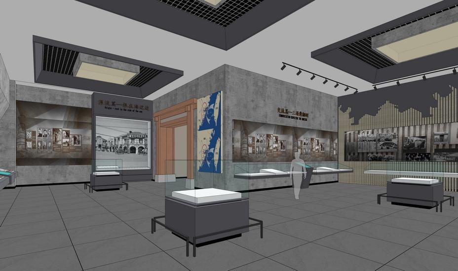 现代博物馆室内设计SU模型【ID:636941027】