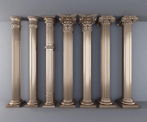 欧式罗马柱子3D模型【ID:628054914】