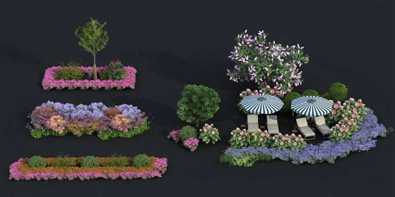 现代植物3D模型【ID:124885852】