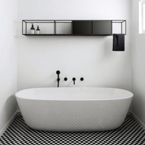 现代浴缸卫浴架组合3D模型【ID:227781070】