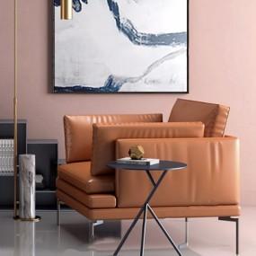 现代休闲沙发3D模型【ID:928332611】