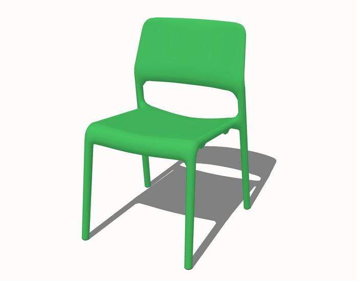 单人休闲椅子SU模型【ID:936942435】
