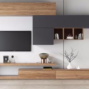 北歐電視柜墻柜3D模型【ID:928208043】