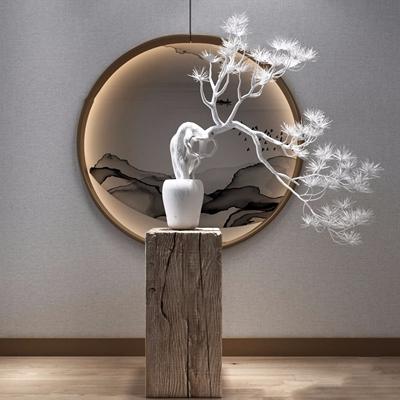 新中式松树摆件3D模型【ID:928346152】