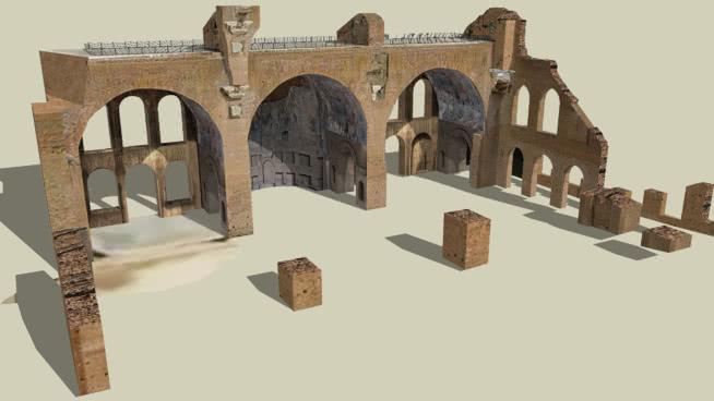 massenzio教堂,罗马广场,罗马SU模型【ID:440316002】
