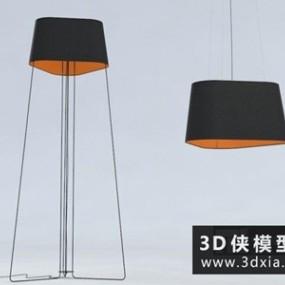 现代落地灯国外3D模型【ID:929611023】