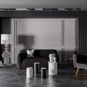 (悬赏模型)唐忠汉现代客厅沙发组合3D模型【ID:928560595】