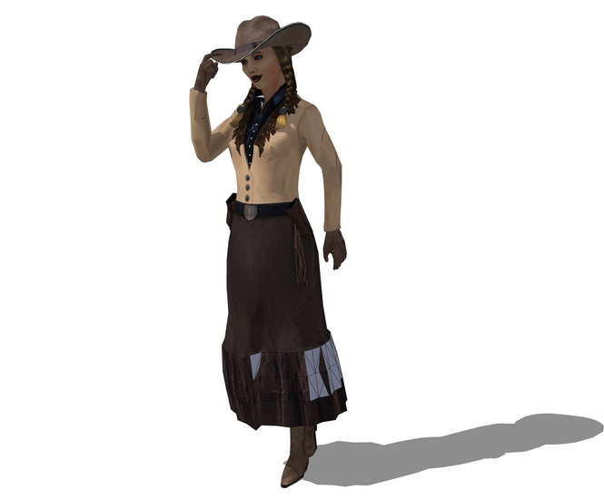 3D女人物SU模型【ID:136948773】