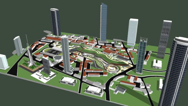 城市规划-01SU模型【ID:140318355】