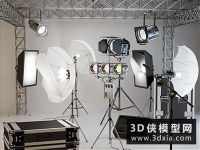 摄影器材组合国外3D模型【ID:229696076】