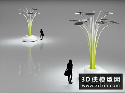 路灯国外3D模型【ID:929820225】