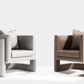 现代时尚单人沙发3D模型【ID:634675407】