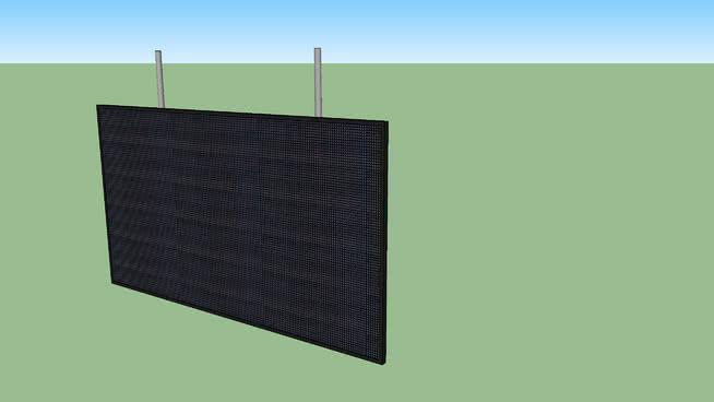 体育场LED显示屏(1,5x2,7)SU模型【ID:940321642】