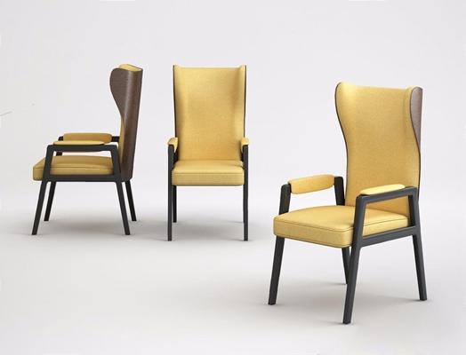 后現代餐椅3D模型【ID:327916041】