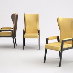 后现代餐椅3D模型【ID:327916041】