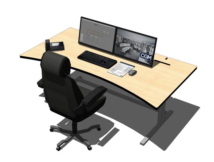 电脑桌椅SU模型【ID:836956489】