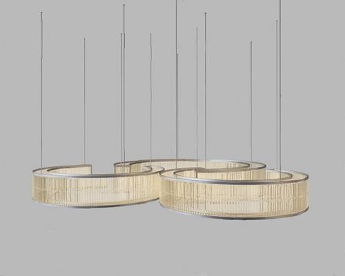 现代吊灯3D模型【ID:224897881】