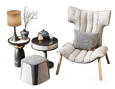 北欧轻奢休闲单人沙发3D模型【ID:634899412】