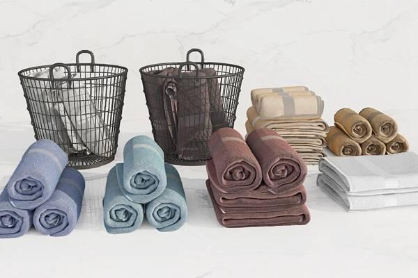 现代毛巾3D模型