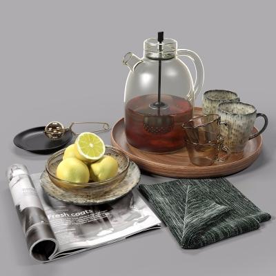 现代茶水柠檬3D模型【ID:228423583】